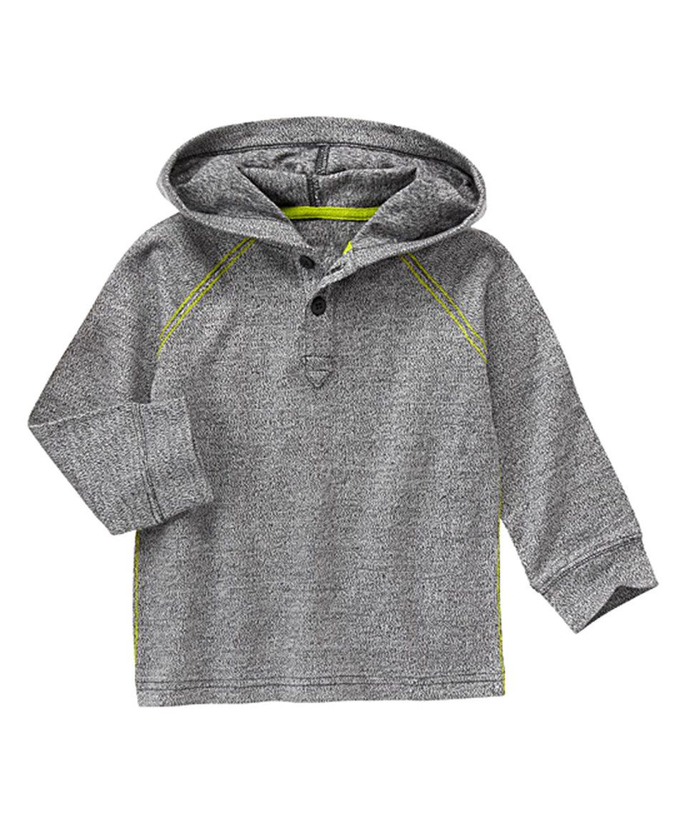 Another great find on #zulily! Gymboree Gray Marled Henley Hoodie - Infant & Toddler by Gymboree #zulilyfinds