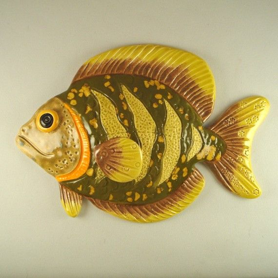 Wall decoration Ceramic Fish Made to order   Ceramic fish, Wall ...