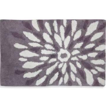 Bacova Guild Ltd Lacey Purple Flower Power Bath Rug Brought To