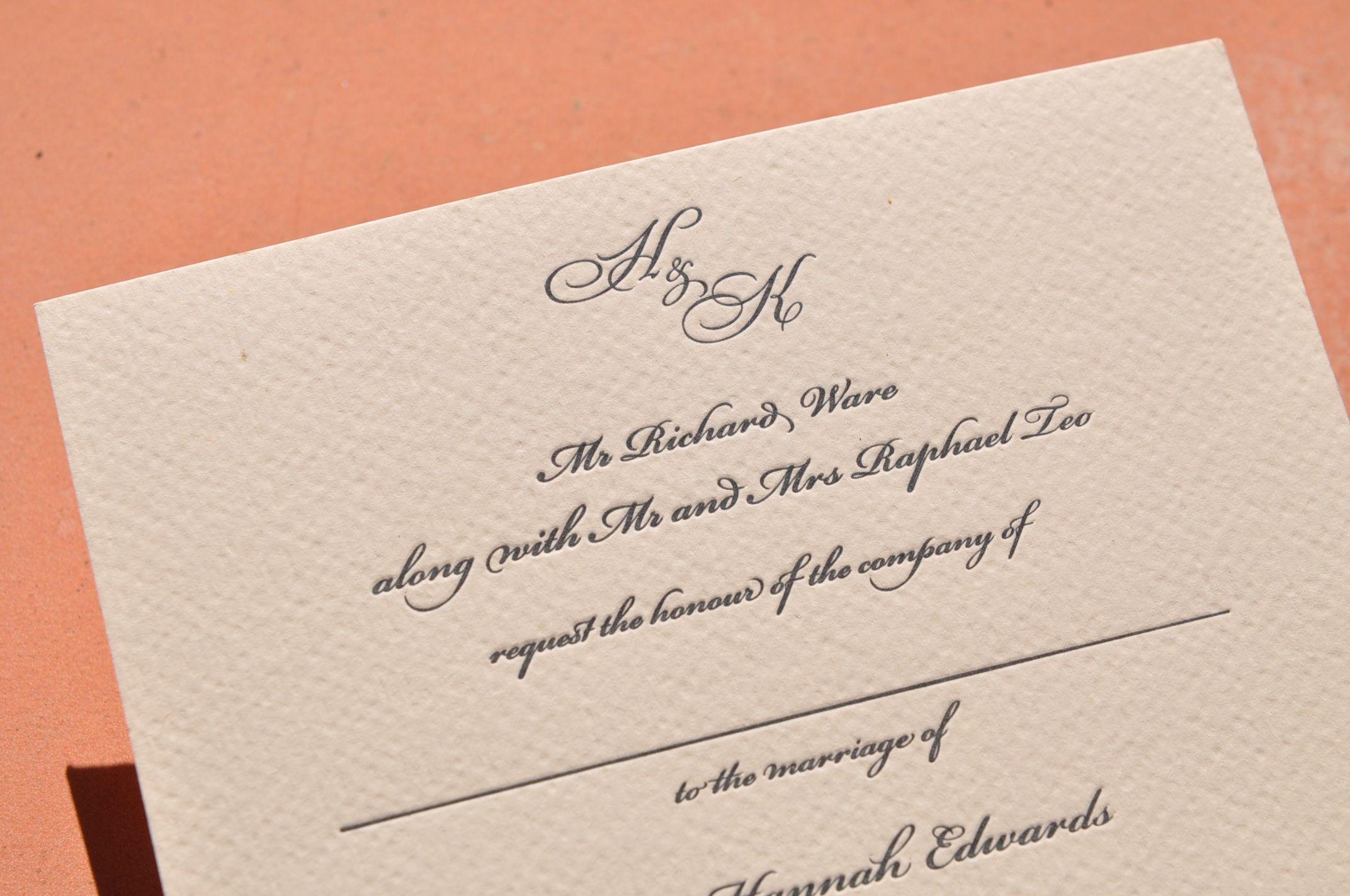 Classic, single colour invitation. | Wedding stationery | Pinterest ...
