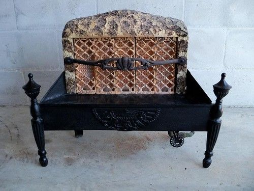 ANTIQUE vintage GAS radiant FIREPLACE insert HEATER stove w ...