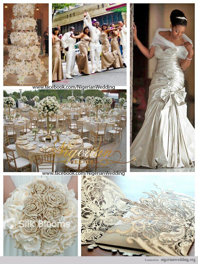 nigerian wedding champagne and cream wedding color scheme 6   Just ...