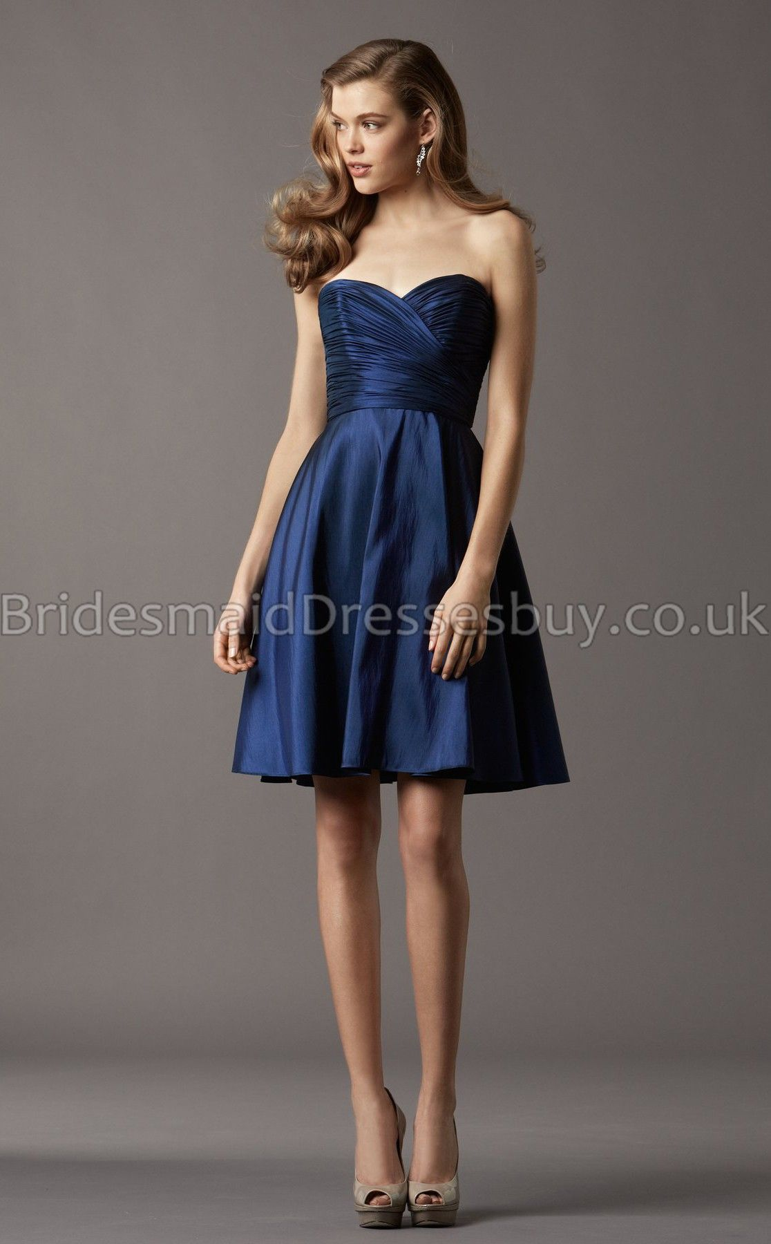 A Line Sweetheart Navy Blue Bridesmaid DressesBlue Dresses