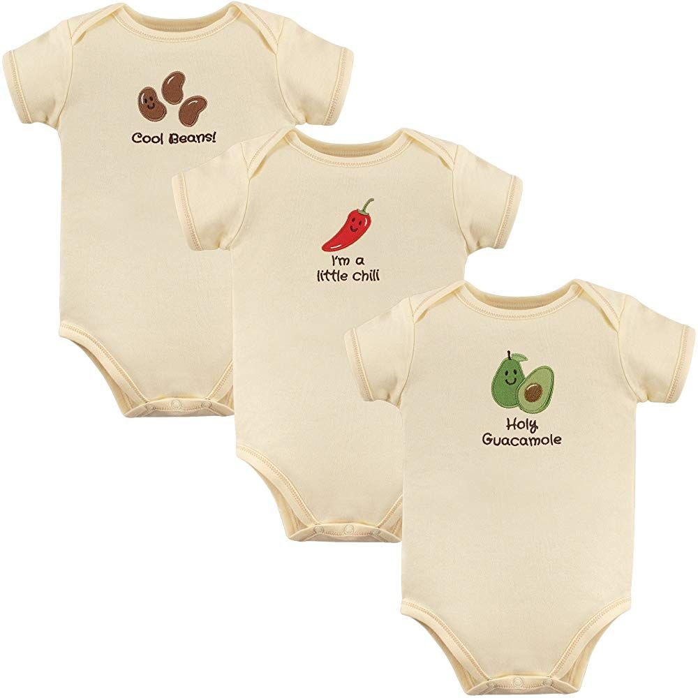Baby Girls Short Sleeve Organic Bodysuits I Love Chicken Nuggets Baby Clothes