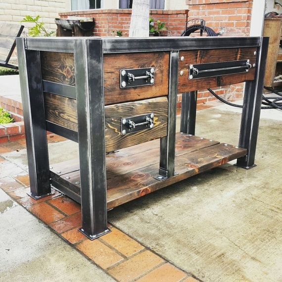 Industrial Vanity: Bathroom Vanity/ Bathroom Furniture/ Bathroom Decor