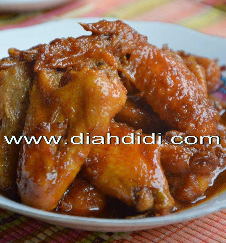 Ayam Kecap Resep Ayam Resep Masakan Resep