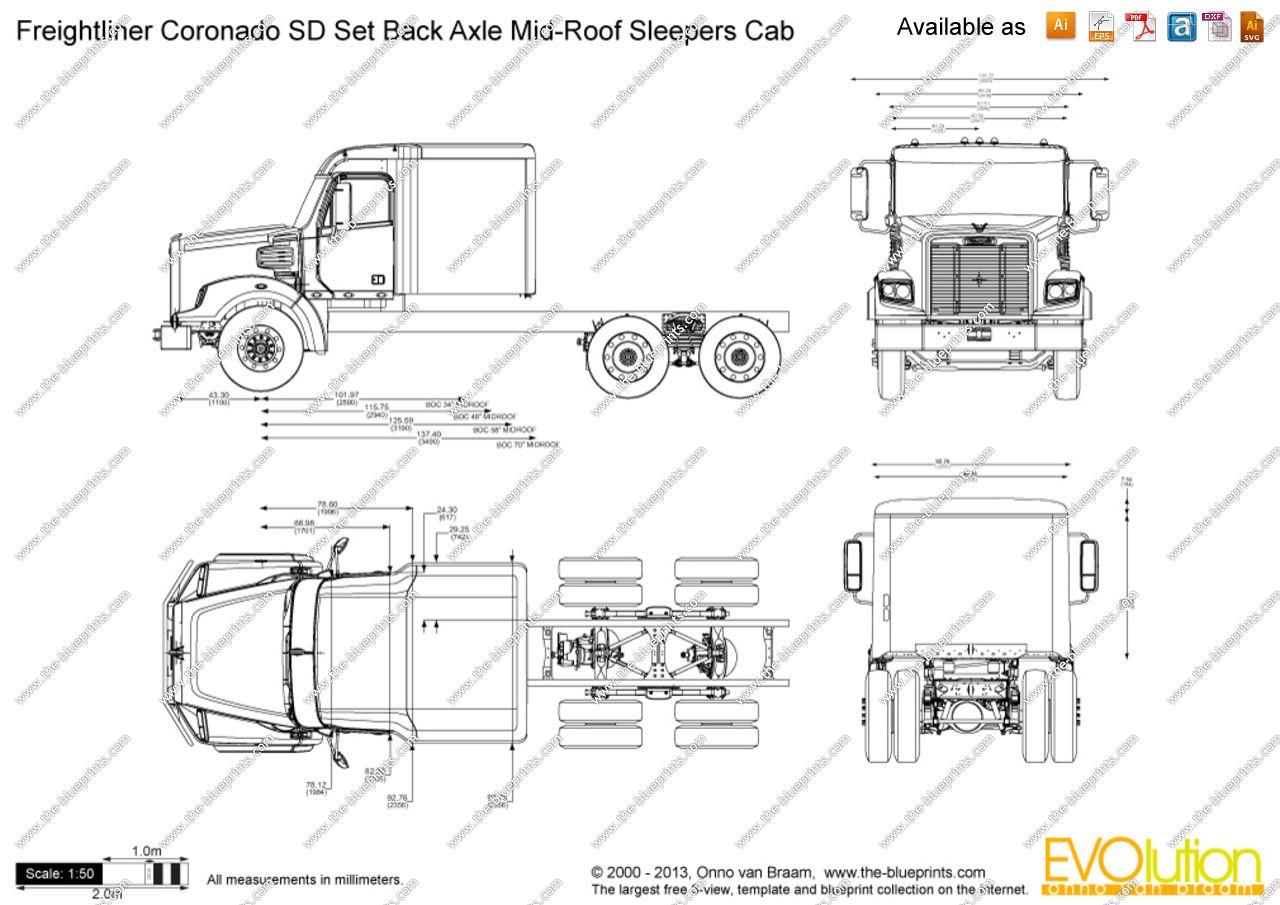 Image result for freightliner blueprints pinterest cars image result for freightliner blueprints malvernweather Gallery