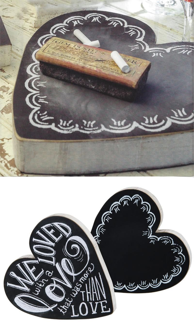 Heart Chalkboard Sign - could probably DIY this with a bit of chalkboard paint  an empty chocolates box