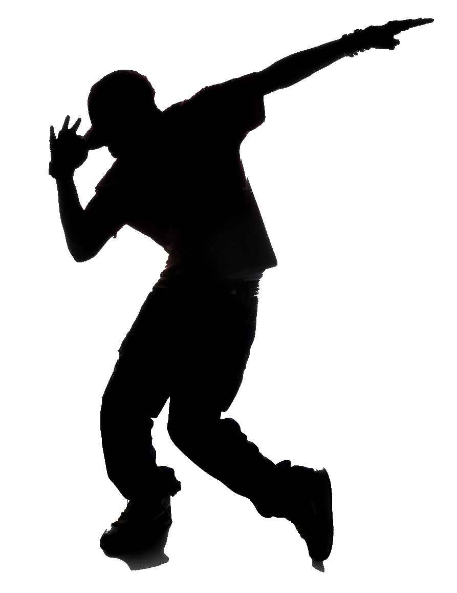 Black Hip Hopper On White Hop Dancer Clipart