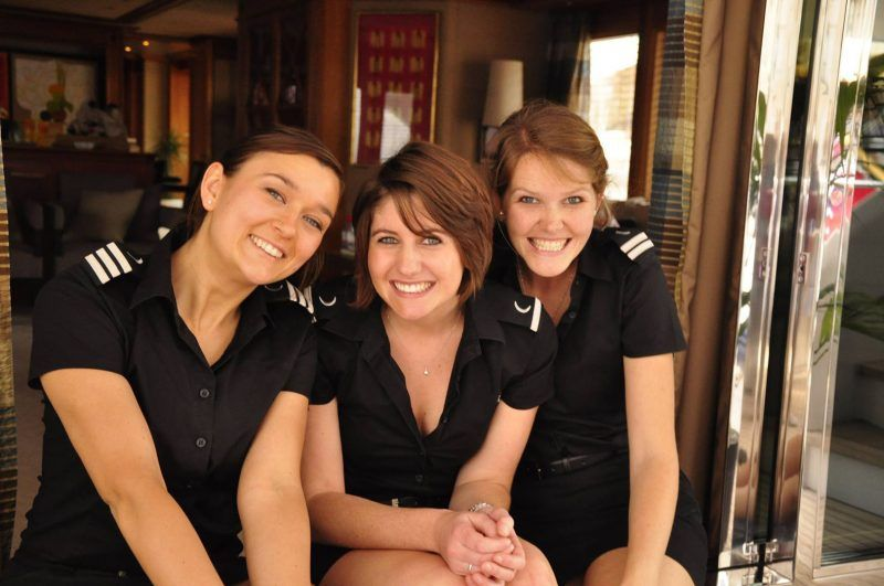 Guide to a yacht stewardess working on