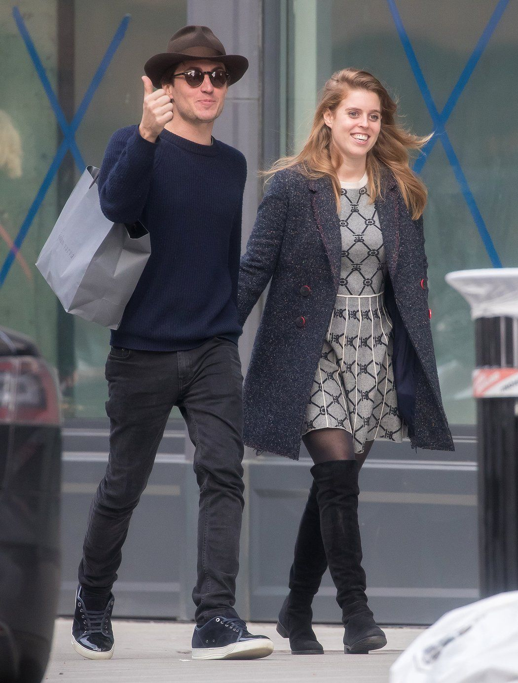 Royal Love Princess Beatrice Strolls Hand In Hand In N Y C With