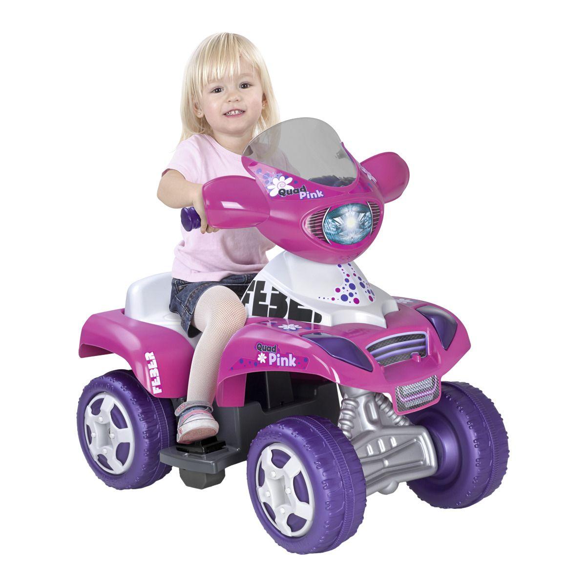 Quad eléctrico infantil 6v Kripton Pink. Feber 10444. Hecho