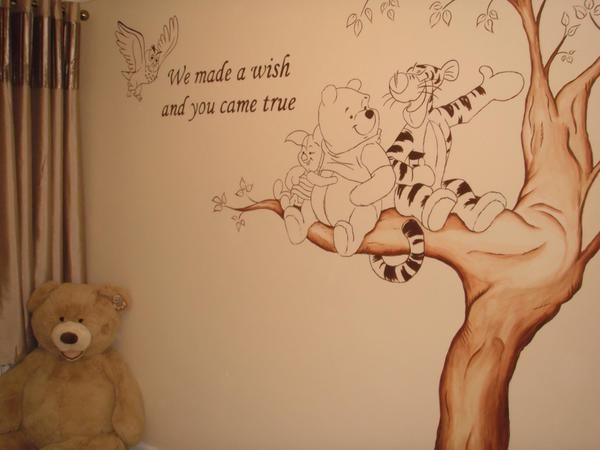Winnie The Pooh Nursery Mural Www Custommurals Co Uk