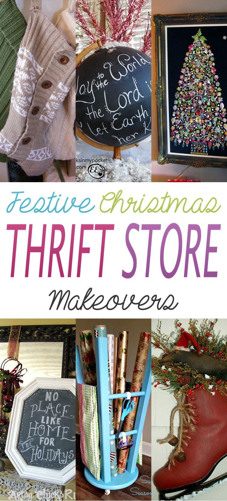 Festive Christmas Thrift Store Makeovers Thrift store