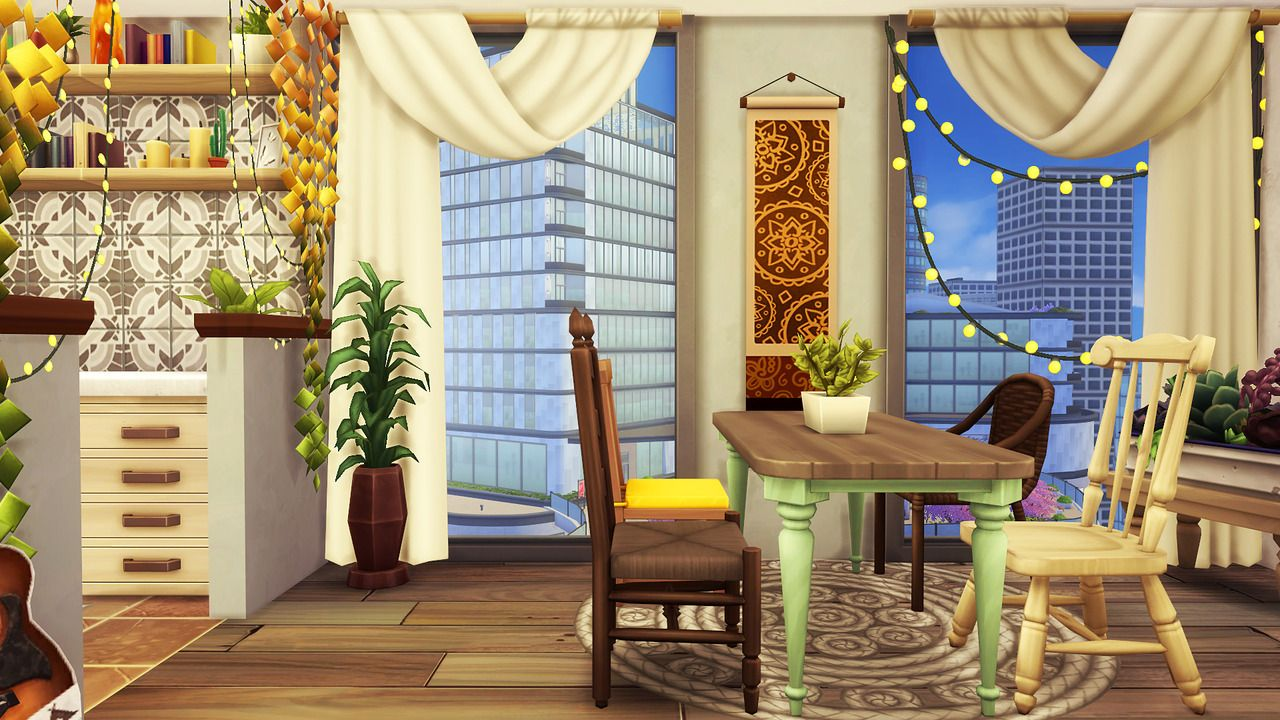 Aveline Artsy Boho Apartment 1 Bedroom 2 Sims 1 With