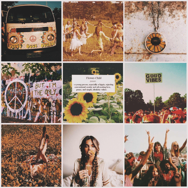 Aesthetic Mood Board Hippie Hippie Bohemian Aesthetic