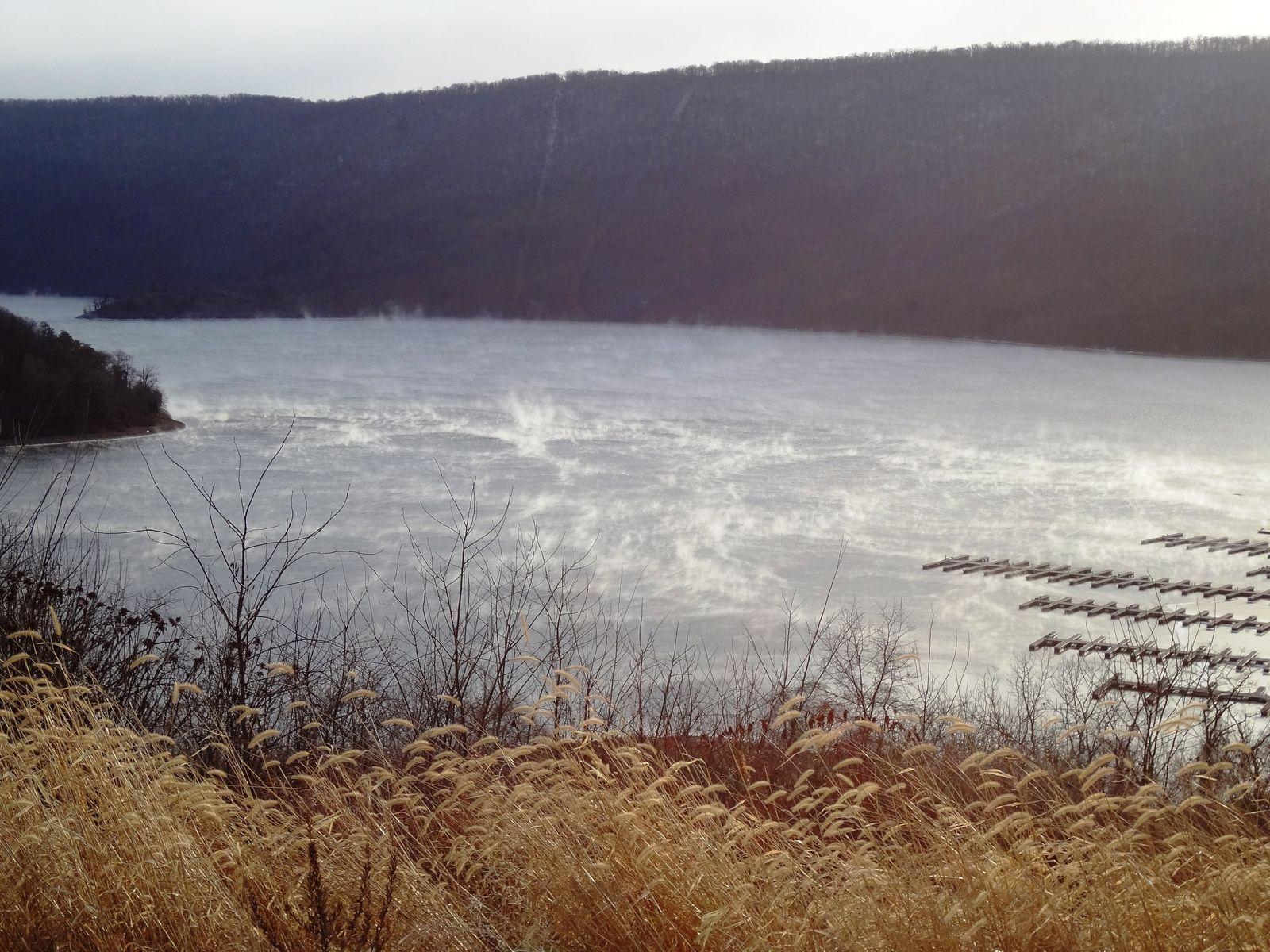 Lake effect snow at raystown lake lake natural