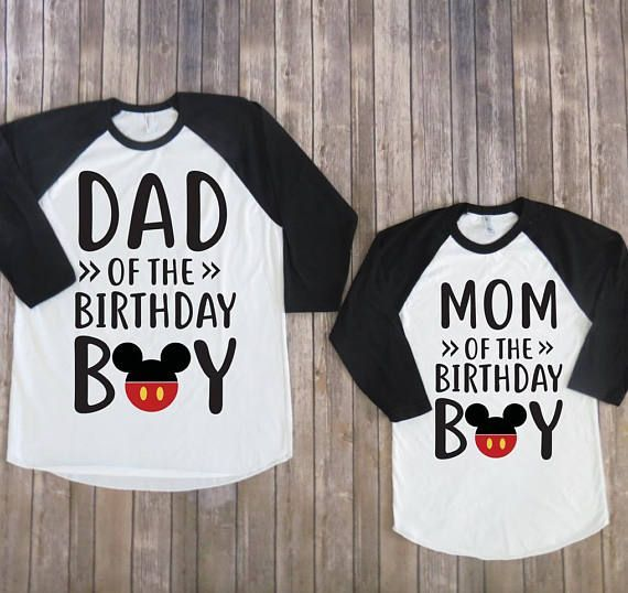 f5d690d6b Mickey mouse custom birthday shirt for mom and dad, mickey mouse party, disney  birthday