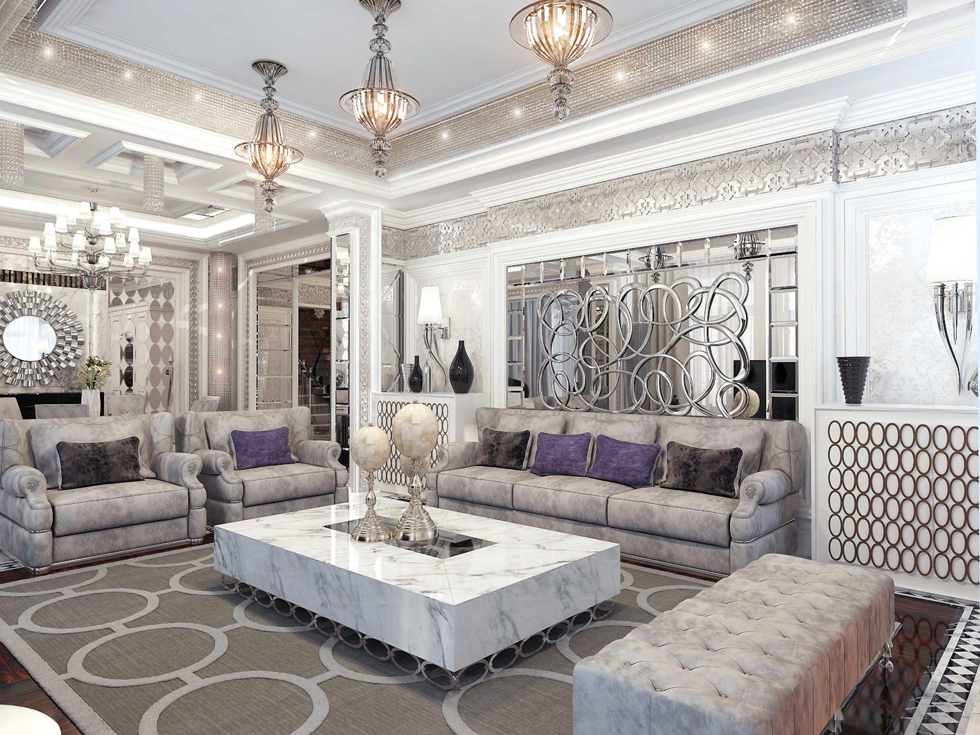 Архитектурное бюро Игоря Сушкова: проектирование интерьеров квартир, коттеджей и домов, ресторанов и кафе - Интерьер загородного дома в стиле Ар-Деко