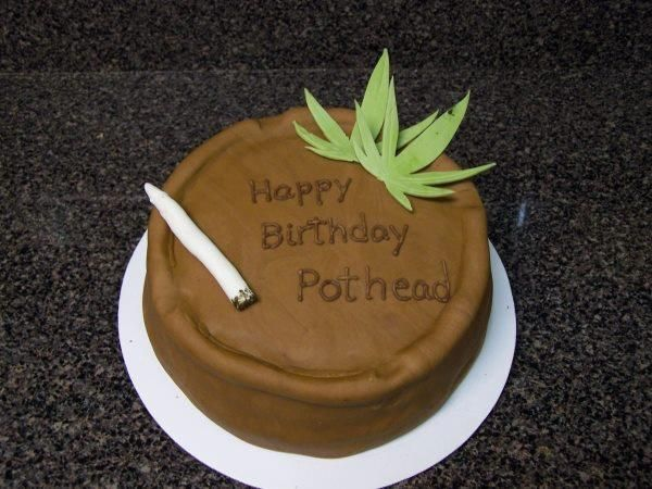 Happy Birthday Pothead cake Food Porn Pinterest Food porn