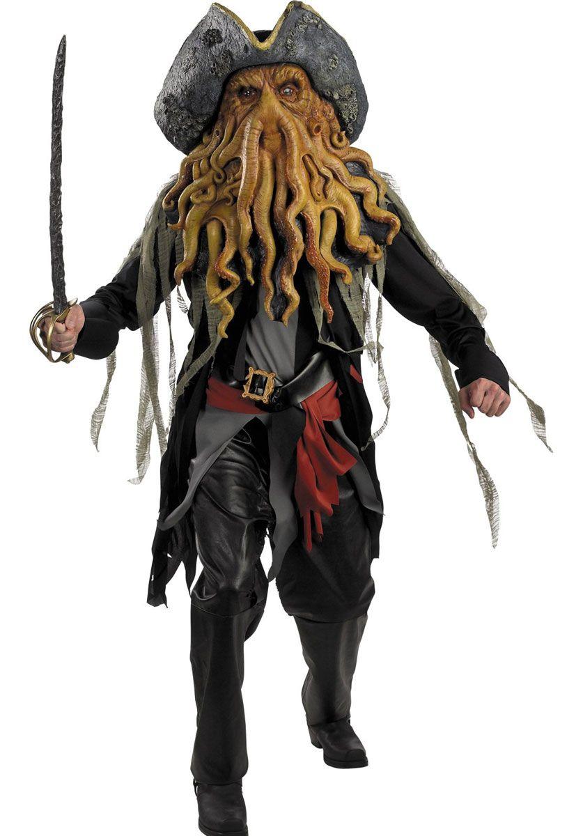 Davy Jones Pirates Des Caraibes : jones, pirates, caraibes, Jones, Costume, Costume,, Pirate, Sparrow