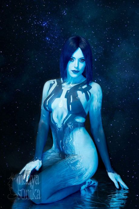 Halo cortana body paint-adulte galerie