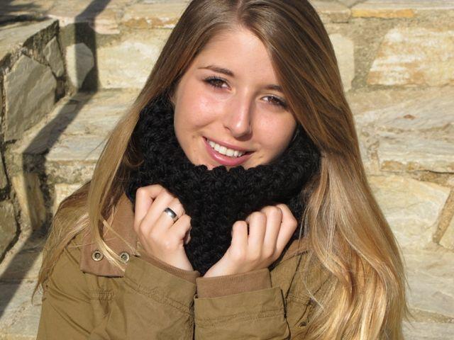 Cuello Winter esta vez en color negro. Composición 100.% acrílico, muy suave y calentito...