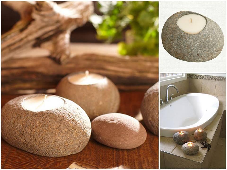 Velas em pedras