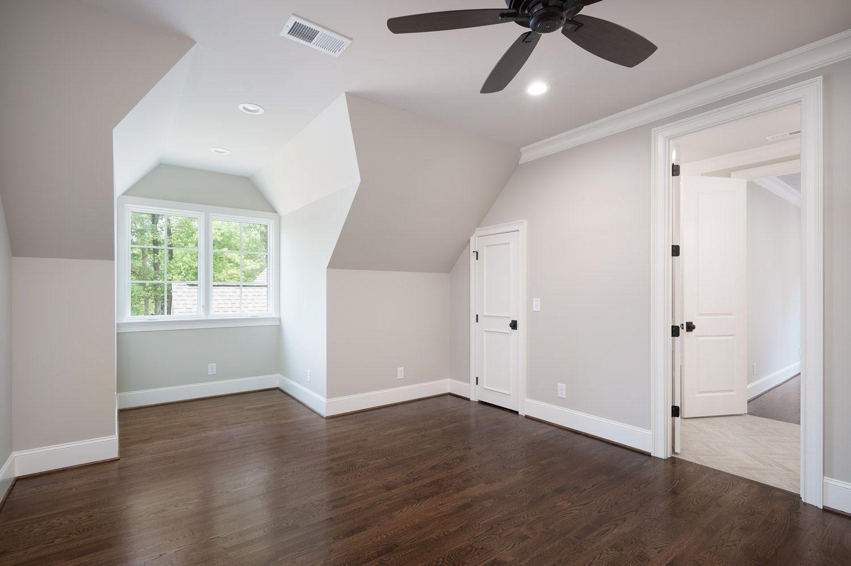 Dark Wood Floors Light Grey Walls White Trim And Dark M