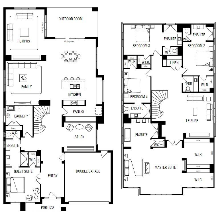 Doulton 56 By Metricon Price Floorplans Facades Display Homes And More Ibuildnew New House Plans House Blueprints House Plans 2 Storey