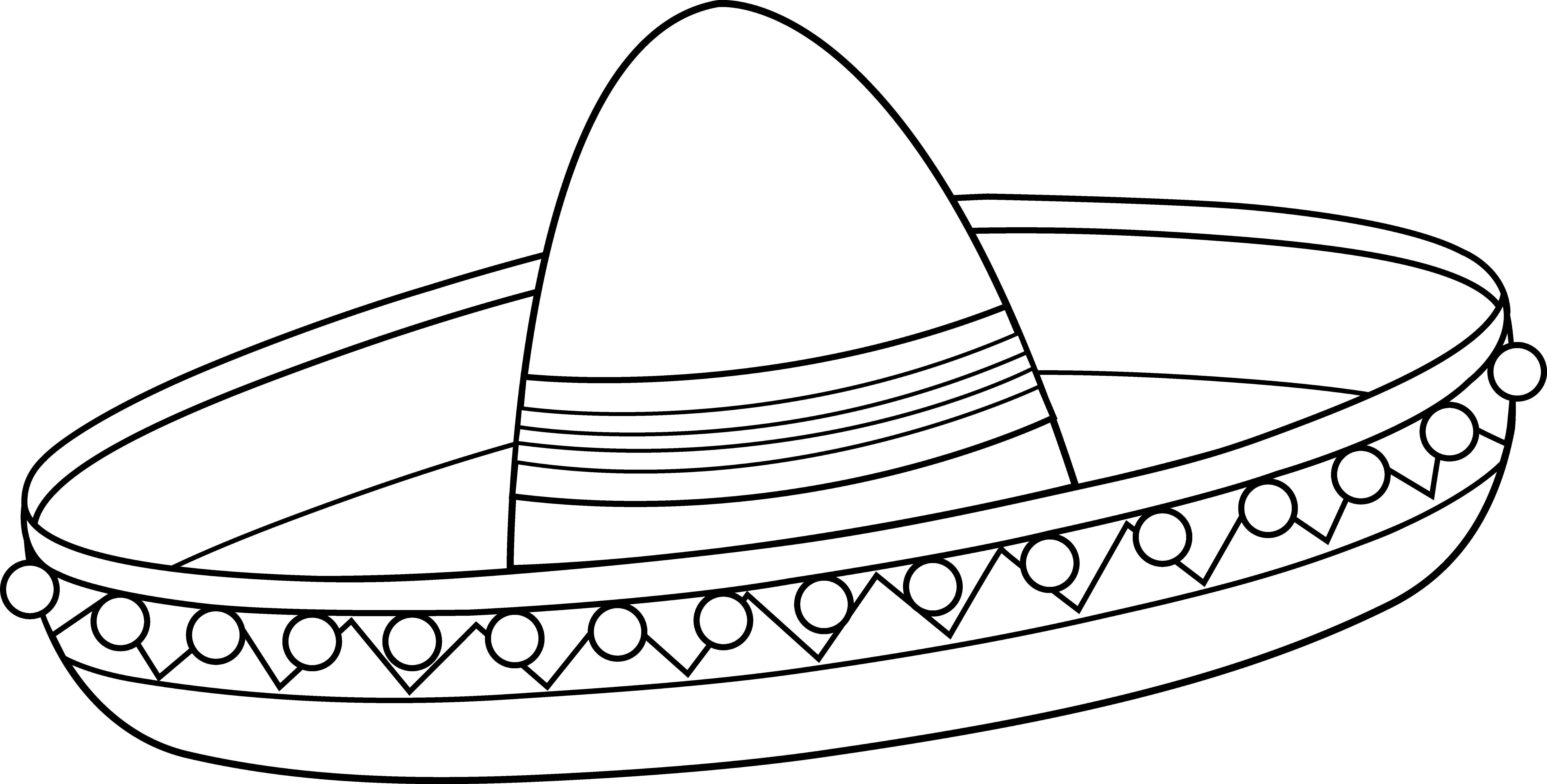 Mexican Sombrero Coloring Page