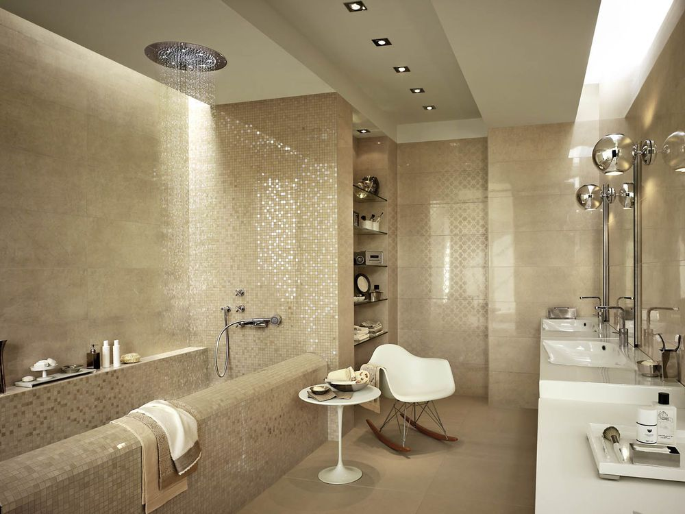 Marazzi Stonevision Bathroom Ceramic Tiles With Glossy Surface