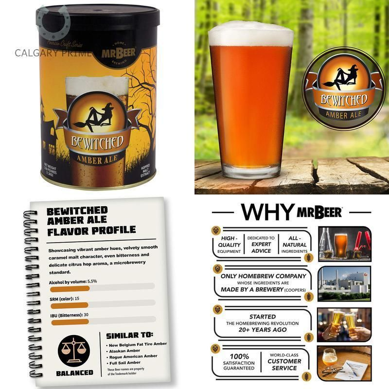 Mr Beer 60977 Bewitched Amber Ale Beer Refill Kit 2 Gallon Ale Beer Ale Craft Brewing