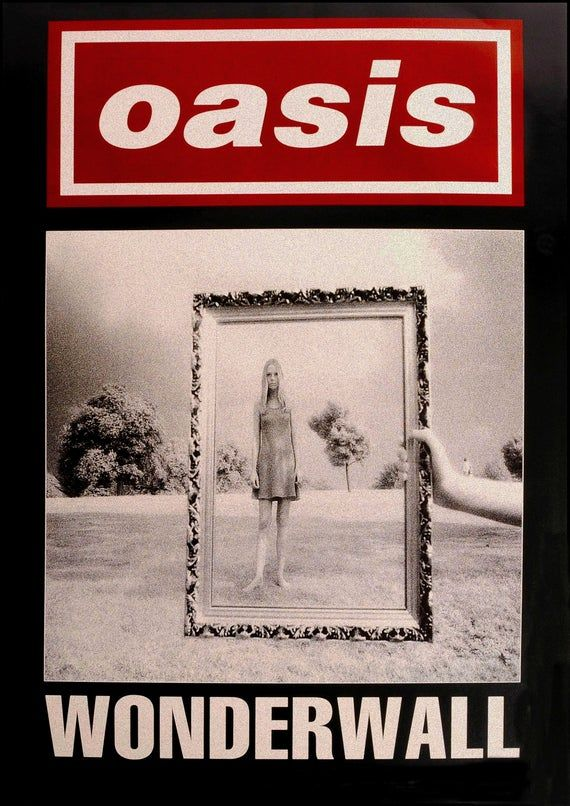 "Reproduction Oasis Poster, ""Wonderwall"", Home Wall Art, Size: A2"