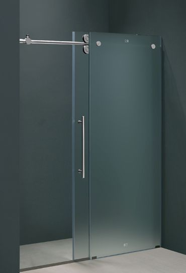 Frameless Shower Door In Frosted Gl