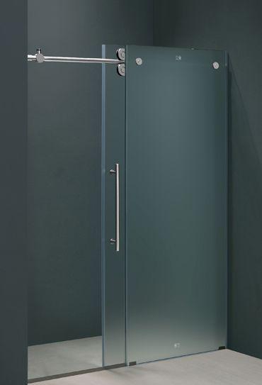 60 In Frameless Shower Door In Frosted Glass Frameless Shower