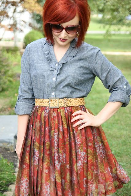 Thrift and Shout blog in a totally thrifted outfit! # ...