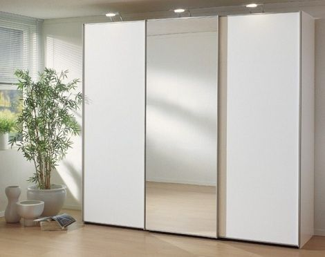 Kast: schuifdeuren Ravenna kleur : wit, een spiegeldeur merk : nolte ...