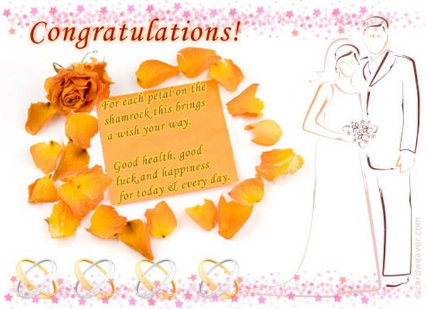 Wedding Wishes Newly Married Congratulations Messages