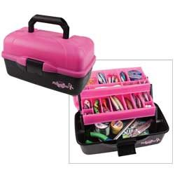 Pink South Bend Wormgear Tackle Box-88 Piece
