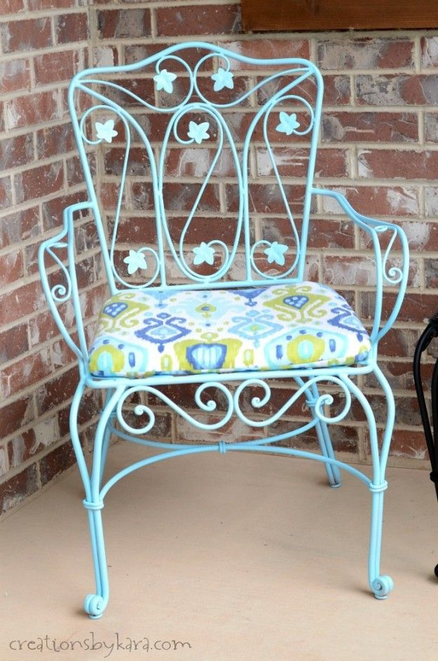 Don\'t toss out your rusty patio furniture! I\'ll show you how to make ...