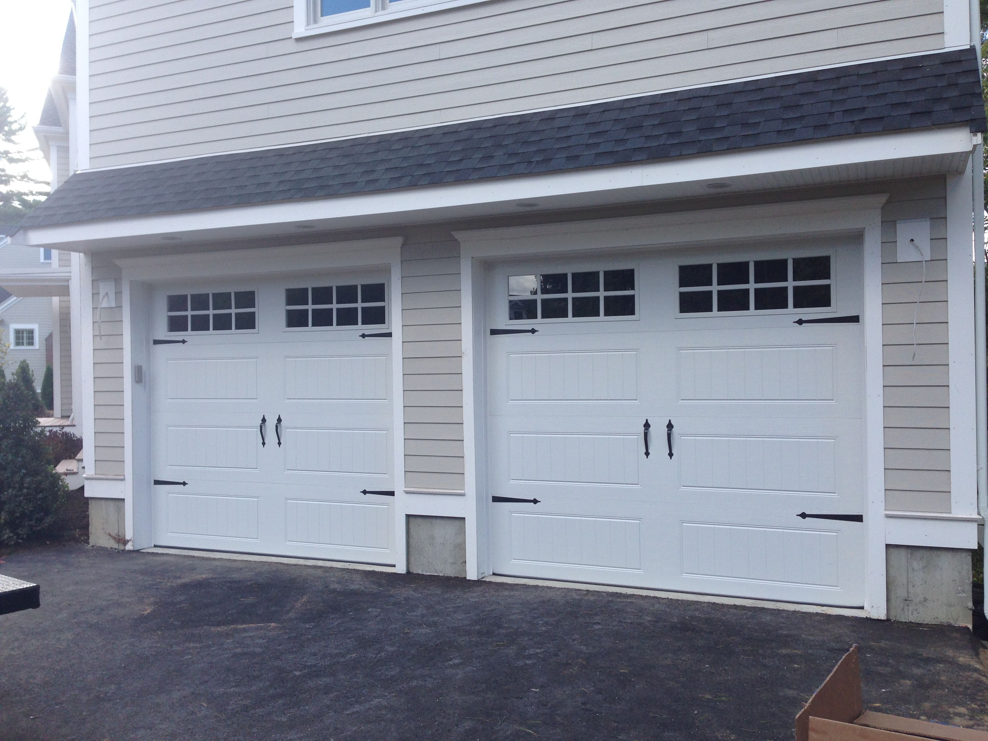 C.H.I. Overhead Doors Model 5916 Long Panel, In White With Stockton Glass.  Call Us At 800 790 1123 Or Visit Americasgaragedoors.com For Installation  And ...