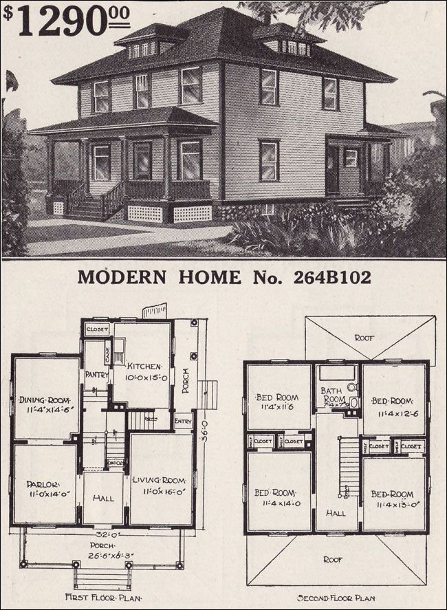 Pin By Dawn E C On Pillars Of Architectural Plans Four Square Homes Vintage House Plans Plans Modern