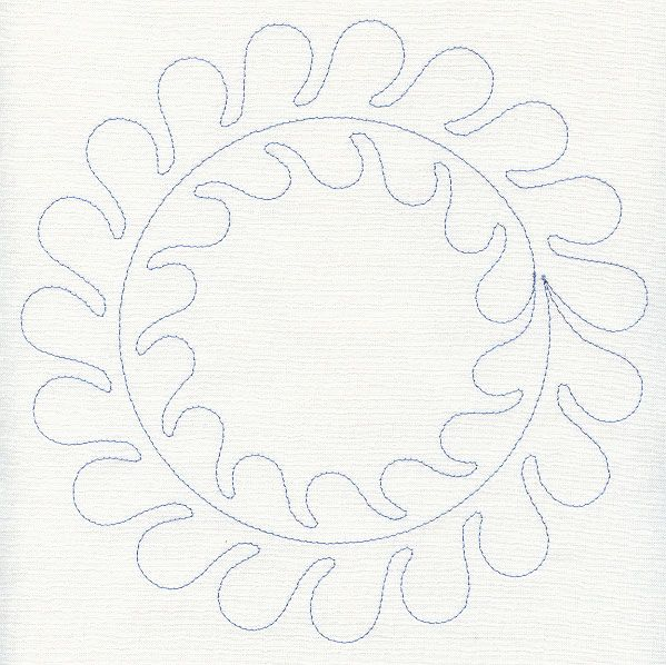 Feather Quilting Circle (Single Run) design (D7183) from