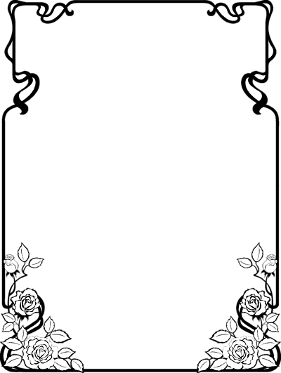 Chalk Transparent Border: Free Black And White Clip Art