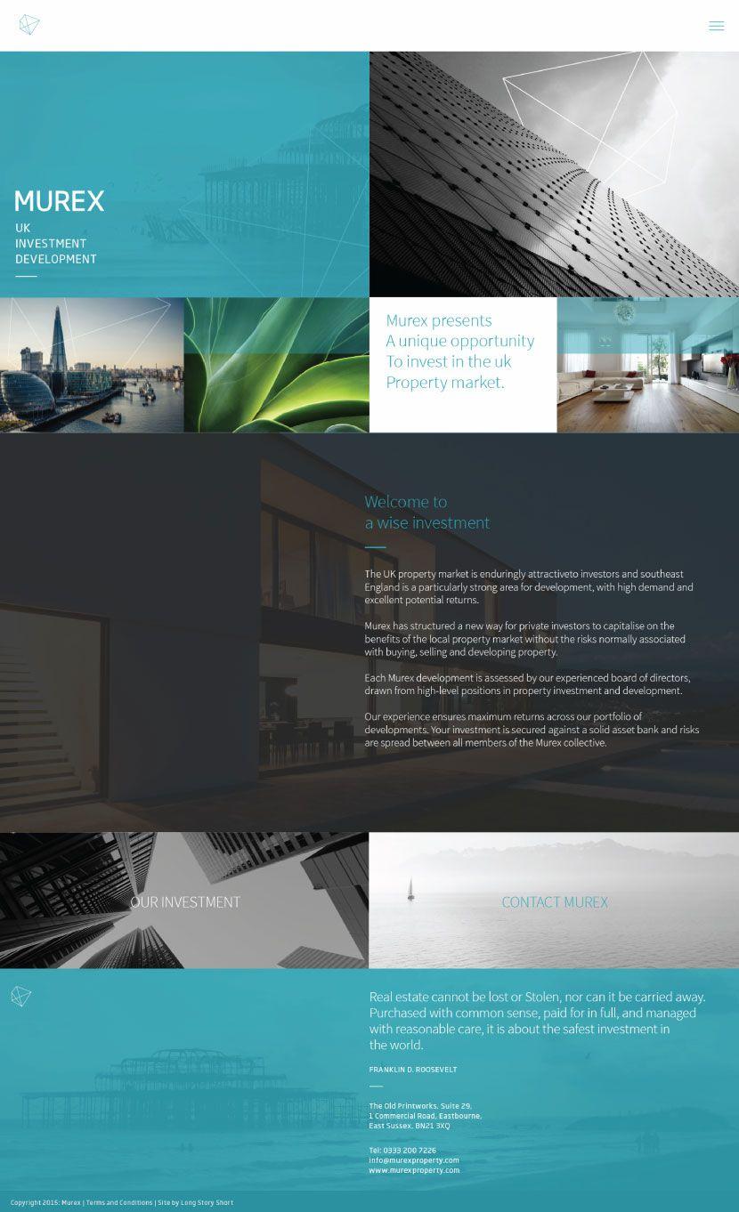 Murex Website Property Marketing Brand Building Website Design