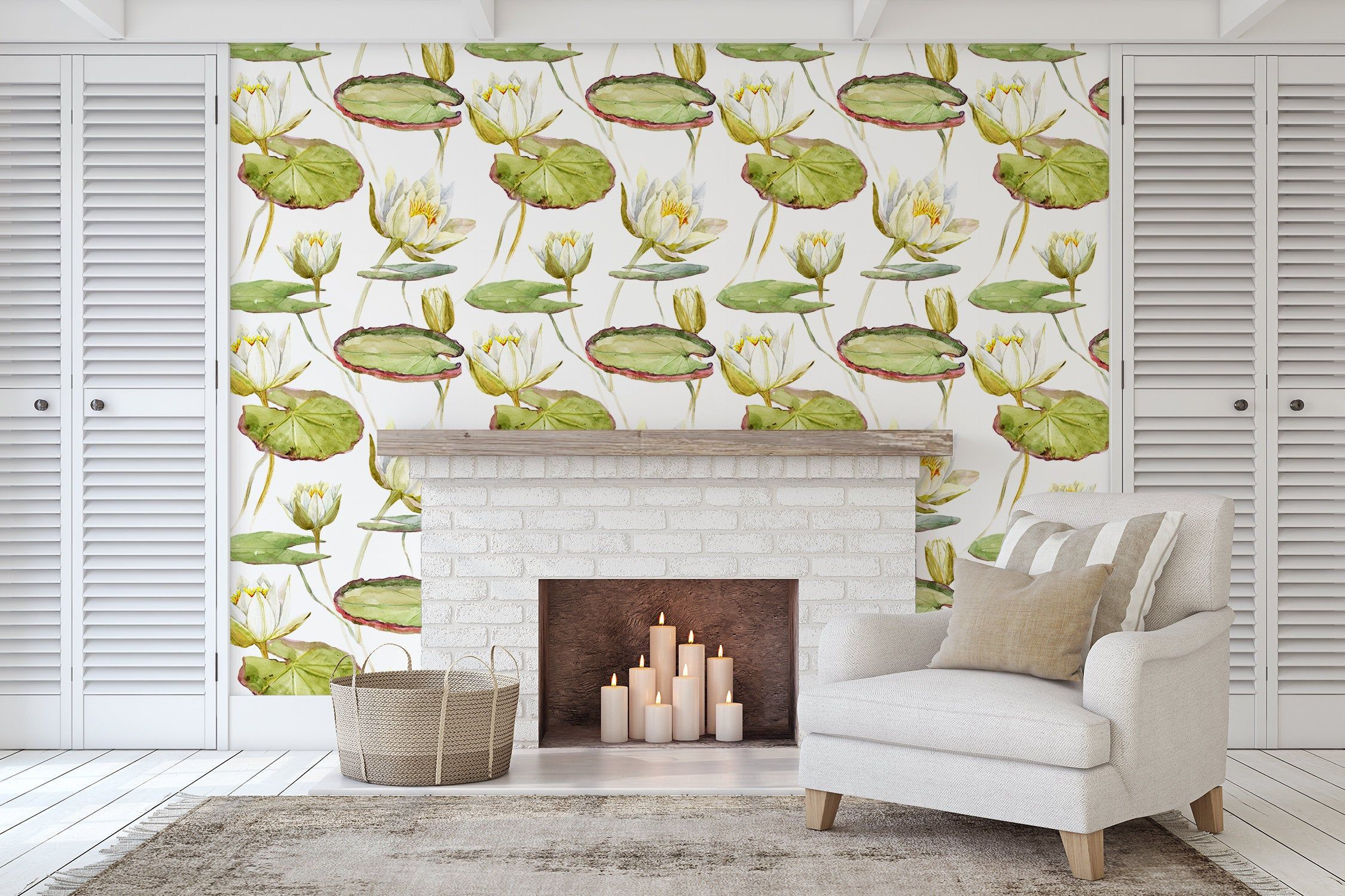 Removable Peel And Stick Wallpaper Lily Pad Plant Wallpaper Etsy Peel And Stick Wallpaper Plant Wallpaper Lily Pads