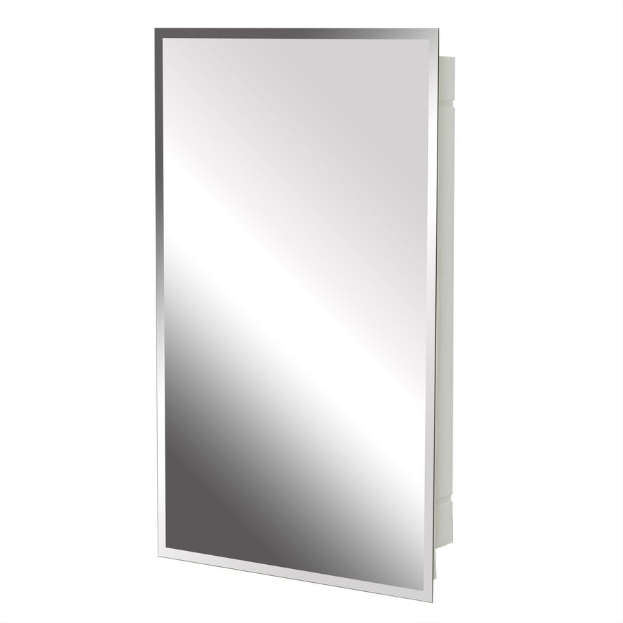 Project Source 16 In X 26 In Rectangle Surface Recessed Mirrored