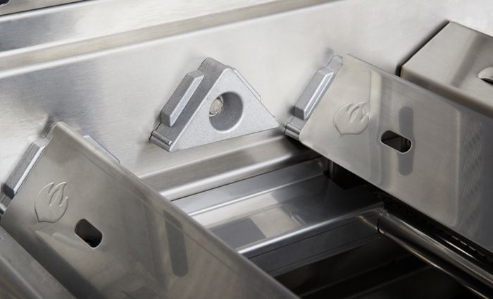 Durable and Dual-level Stainless Steel Sear Plates help catch grease and eliminate messes - Enforced hangers allow you to remove and clean with ease! They will not warp or diminish under high heat. A must have for the grill! PrestigePRO ™ 665RSIB or 825RSIB