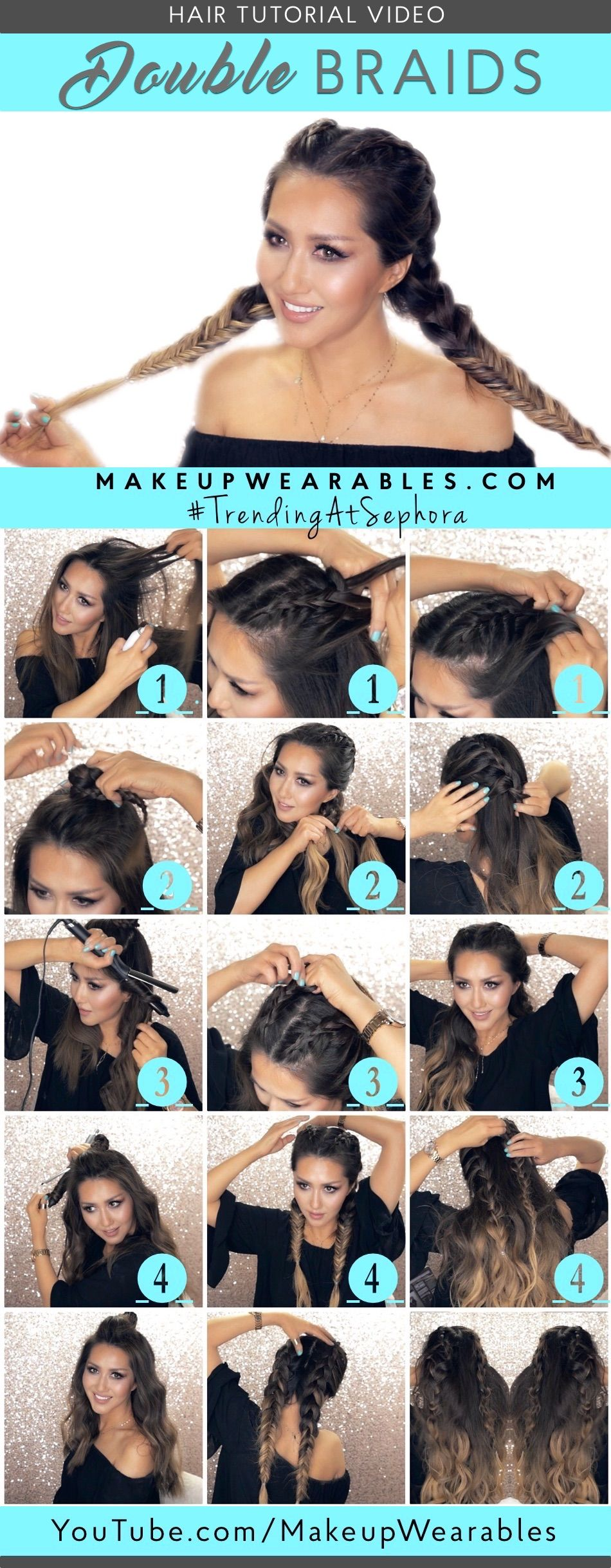 3 Spring Hairstyles With Braids 5 Minute Lazy Lob Waves Tutorial